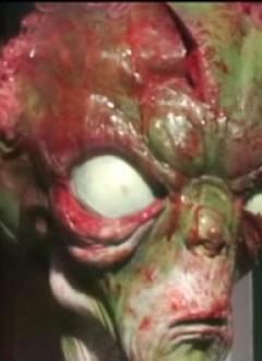Cet alien est souffrant, il a le regard éteint.