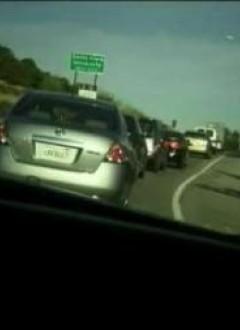 Cet embouteillage ne semble pas naturel. Encore un coup du réchauffement climatique ?