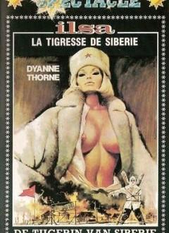 """Une jaquette belge de chez """"Gold Video""""qui  rebaptise le film """"Ilsa, la tigresse de Sibérie""""."""