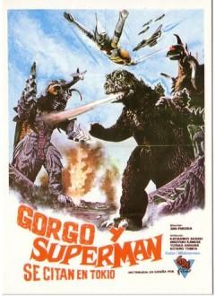 Une affiche espagnol qui pour faire bonne mesure rajoute Superman et Gorgo ( monstre du film éponyme d'Eugene Lourié en 61)